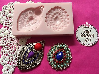 Mirza's Brooches Silicone Mold Food Safe Cake Decoration Candy Cupcake (FDA)