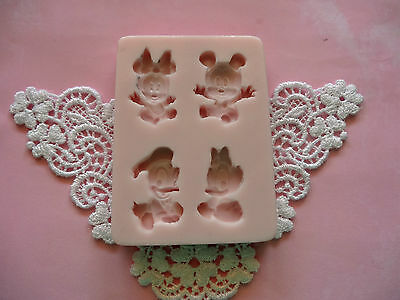 Disney Babies Mickey Mouse & friends silicone mold fondant cake FDA APPROVED