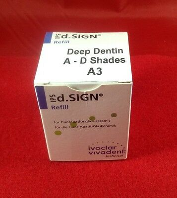 NEW Ivoclar IPS d.Sign Deep Dentin A-D Shades A3-20g Porcelain Dental Lab-Lot LA