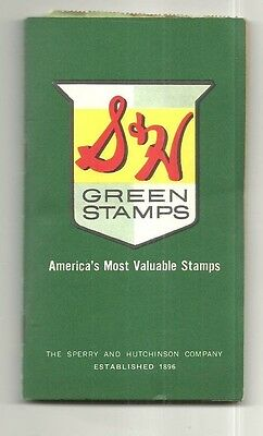 1962 S & H Green Stamps Complete Book Weis Market Grocery Store Sunbury Pa