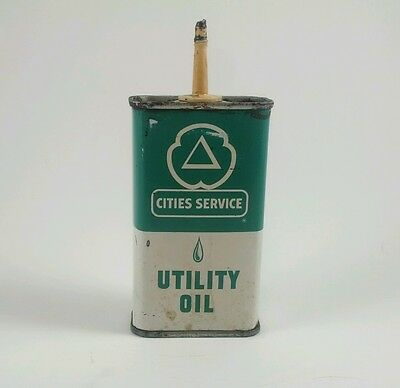 Vintage Cities Service Utility Household Oiler Oil Can