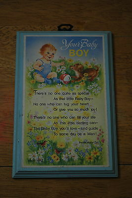 1977 H.M.Z Your Baby Boy Poem by Helen Marie Zell - NICE!!