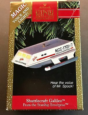 Star Trek SHUTTLECRAFT GALILEO Hallmark Keepsake Christmas Ornament 1992 Lights