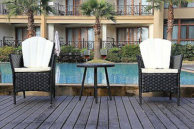 Rattan Garden Furniture Set Chairs Round Coffee Table Conservatory Patio Outdoor