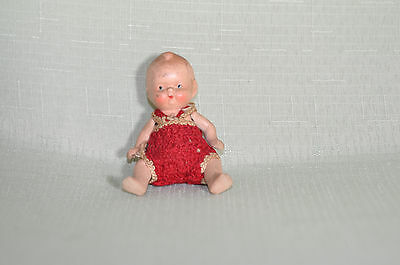 Antique Japan Painted Bisque Baby Doll