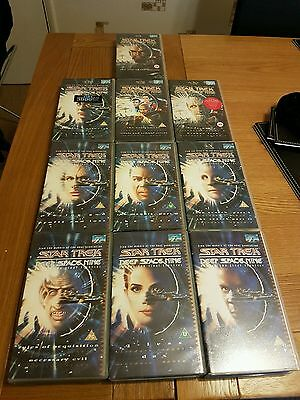 10 Star Trek Deep Space Nine VHS tapes all with 2 episodes.