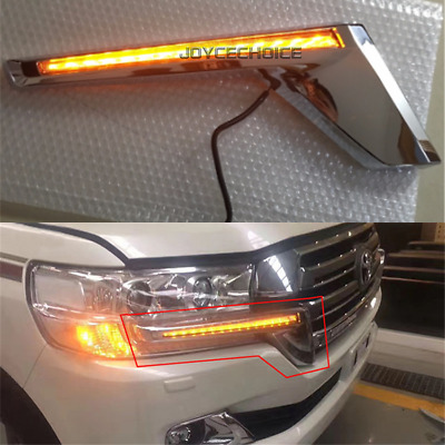Water Flowing LED Turn Signal Flash Light Kit For Toyota Land Cruiser LC200 16+