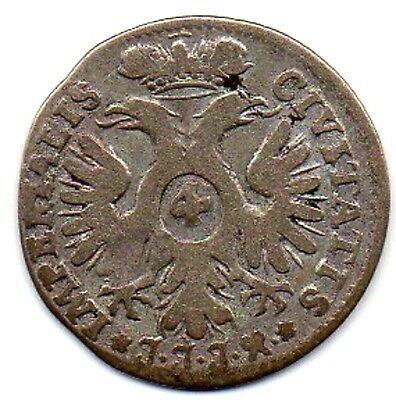 Germany States  - Lubeck  -  1728  4 Schilling - 1/8 Thaler Silver Coin