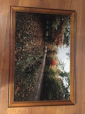 Fabric Picture Of A European Country Side, Large Frame
