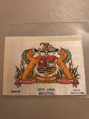 silk BDV Phillips Town And City Arms Small Size  Bristol
