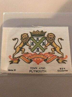 silk BDV Phillips Town And City Arms Small Size  Plymouth
