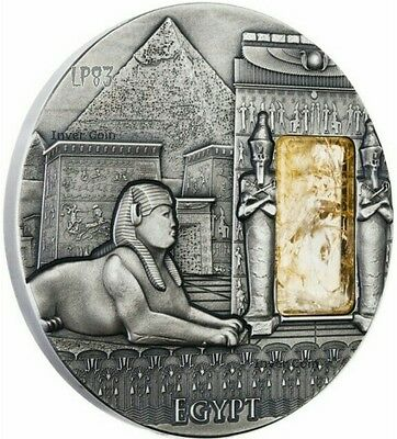 2015 2 Oz Silver EGYPT Imperial Art Citrine Crystal Coin 2$ Niue..