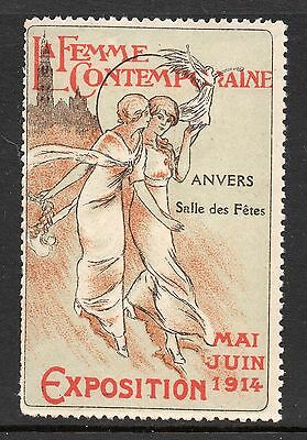 France 1914 Womens Exposition publicity poster stamp