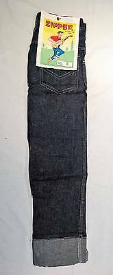 ZIPPER Vintage Original Women's Men's Jeans Rockabilly Teddy Boy Work W24 L30