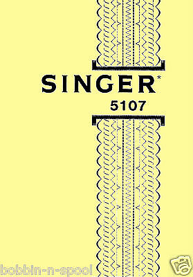 Singer Model 5107 ZigZag Sewing Machine instructions Manual,Machine Not included