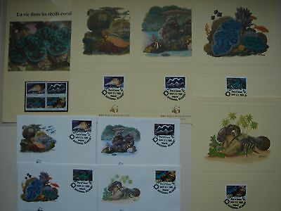 Lot timbres animaux + enveloppes + cartes WWF iles Marshall
