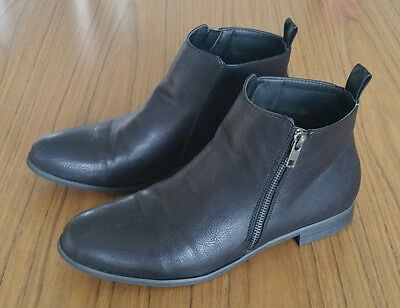 Black Zip Ankle boots | CC Resorts 'Georgia' • Size 39 [LIKE NEW]