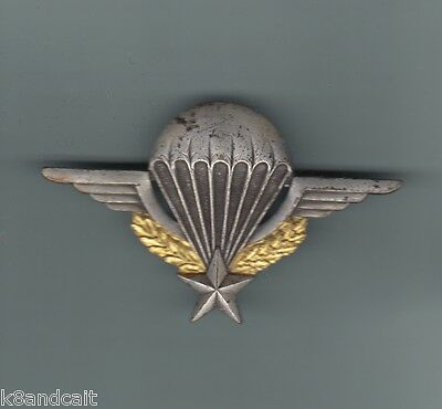 FRENCH MILITARY PARACHUTE JUMP WING BADGE, made in metal