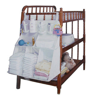 Baby Cot Crib Bed Diaper Clothes Nappy Changing Storage Bag Hanger Holder Large