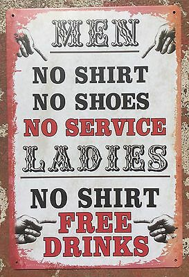 GARAGE Tin Metal Sign Rustic Look MAN CAVE Brand New AU SELLER