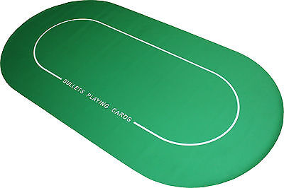 Pro Pokertischauflage 180x90cm - Bullets Playing Cards - Pokerauflage Pokermatte