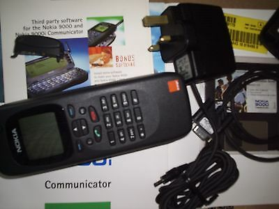 NOKIA 9000i COMMUNICATOR WITH LOCK CODE,ON ORANGE,A1 CONDITION+ORIG. ACCESSORIES