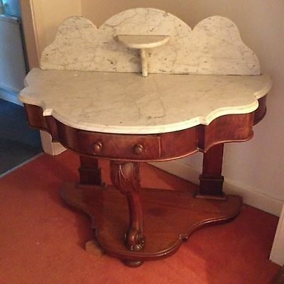 Mahogany, marble topped wash stand