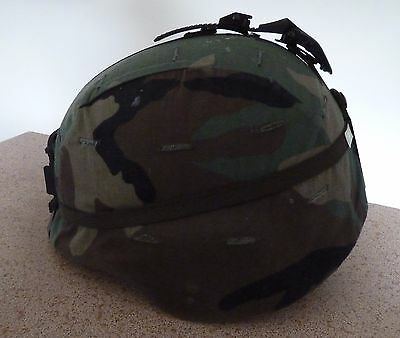 US PASGT Helmet with Woodland Cover NVG Mounts
