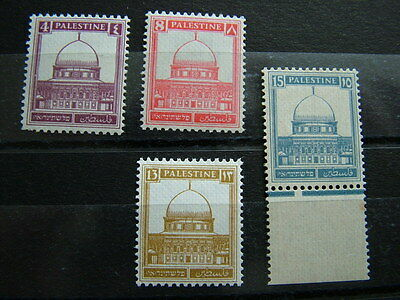 Palestine 1932 MNH ribbed paper odds as photo.