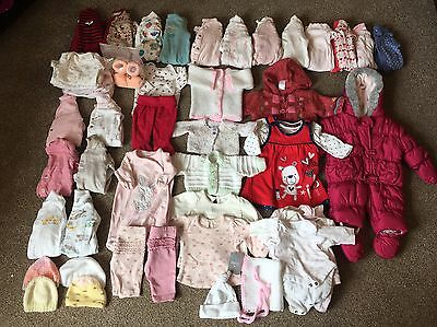 Tiny & Newborn Baby Girls Bundle Clothes Mothercare John Lewis M&s, Bnwt, 177