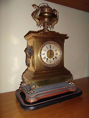 Antique Victorian French Ormolu Clock dated 1884