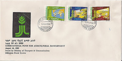 Ethiopia: 1988: 10th Anniv. of the Int. Fund for Agricultural Development,  FDC