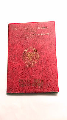 Albania Very Wonderful Reisepass Travel ,document Expired Passport Red Page