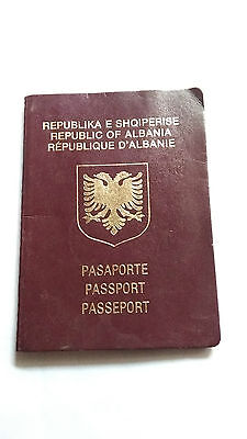 Albania Very Wonderful Reisepass Travel Document Expired Passport Black Page