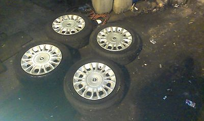 Fiat Punto 14 Inch Alloy Wheels/tyres Set Of 4 , 185/60R14