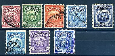 Bolivia 1919 1928 & 1937 coat of arms issues used