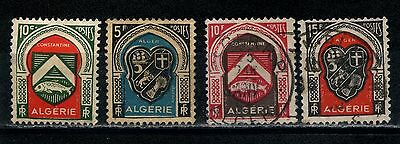 Algeria  1947 Various Coat of Arms SG 267 278 281 & 282 MH & Used
