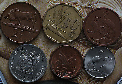 South Africa 1968-1998 2,5,10,50 Cents,  Animals, plants-Foreign coin
