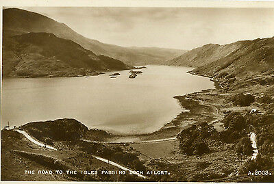 1920s Postcard The Road to the Isles passing Loch Ailort