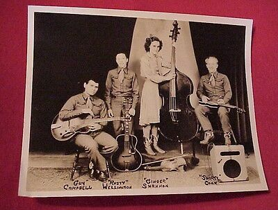 Vintage 1940s Country Western Music Photo The Downhomers Musicians Band Guitars