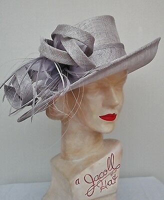 Ladies Whiteley/Maddox Hat in Palest Mauve, Wedding/Races/Mother of the Bride.