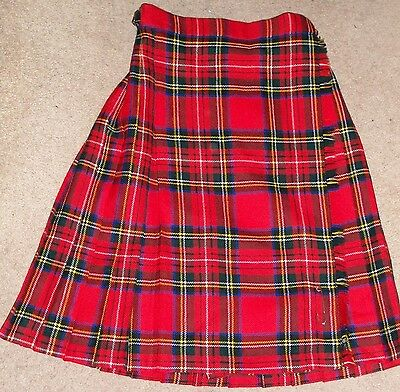 Girls' Royal Stuart tartan wool kilt - age 10 years