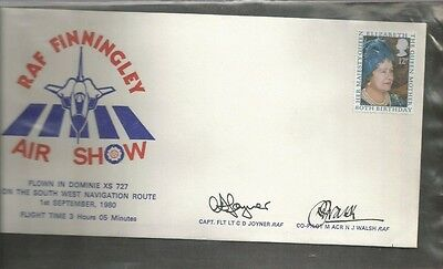Gb Cover Raf Finningley Signed 1980