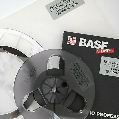 Calibration Reference Level Tape, 1/4″, 7.5 in/s (19,05 cm/s), 1 kHz, 250 nWb/m