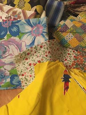Extra Large Vintage Cotton Quilt and Dress Fabric Lot