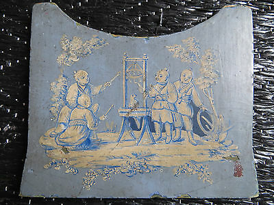 FRENCH CHINOISERIE small painted panel 1920