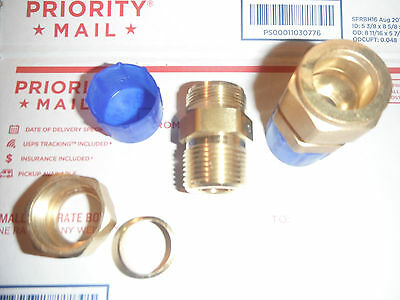 """New = 2 --Brass 3/4"""" OD x 3/4"""" Male NPT Compression Connector Fitting"""