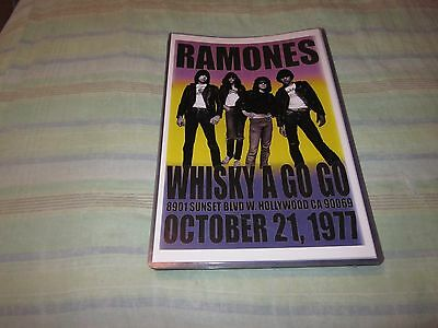 Ramones Whisky-A-Go-Go 1977 Replica Punk Concert Poster W/ Top Loader