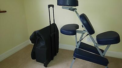 Nearly New Portable Post-Vitrectomy Massage Tattoo Chair (Blue) + Carry Case