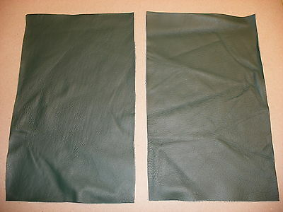 Green Dark Leather Offcuts Craft Pieces Top Quality